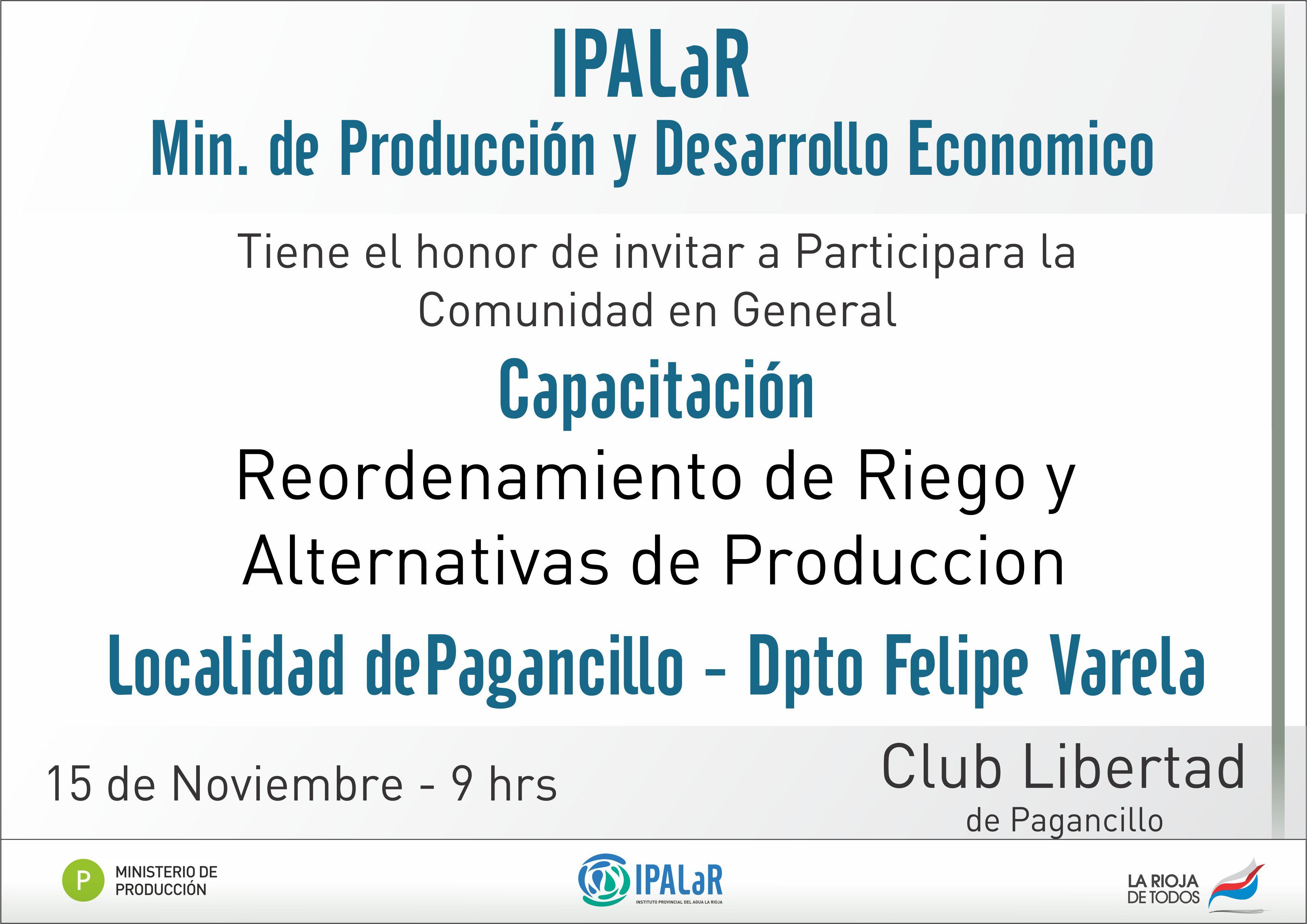 Ipalar y el ministerio de producci n realizan for Ministerio produccion