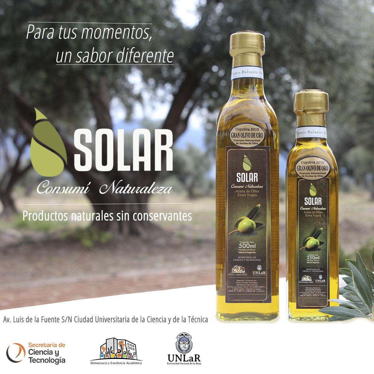 Aceite de oliva de la UNLaR ganó Premio Internacional en Mendoza