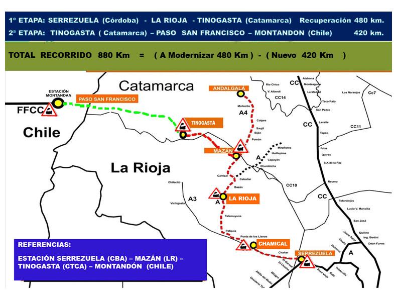 Resultado de imagen para proyecto de tren que una Catamarca con Chile